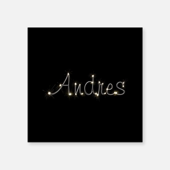 "Andres Spark Square Sticker 3"" x 3"""