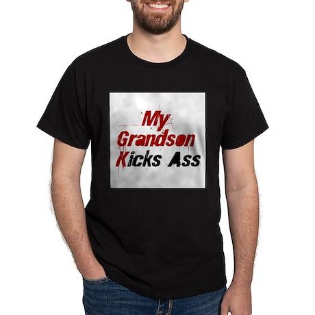 My Grandson Kicks Ass Black T-Shirt