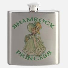 Shamrock Princess Irish Flask
