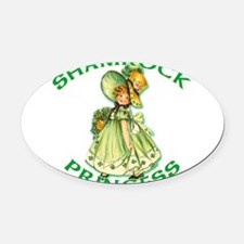 Shamrock Princess Irish Oval Car Magnet