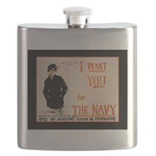 World War I Navy Recruiting Flask