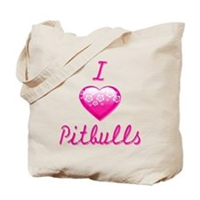 I Love/Heart Pitbulls Tote Bag