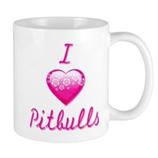 I Love/Heart Pitbulls Mug
