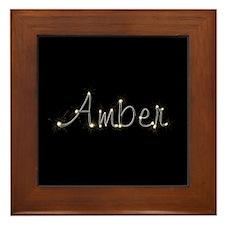 Amber Spark Framed Tile
