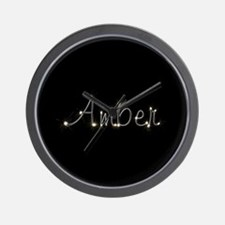 Amber Spark Wall Clock