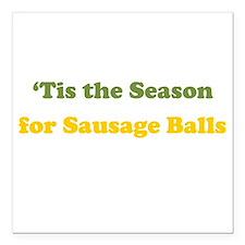 "Sausage Balls Square Car Magnet 3"" x 3"""