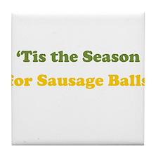 Sausage Balls Tile Coaster