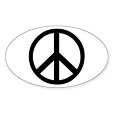 Peace Sign Symbol Oval Decal