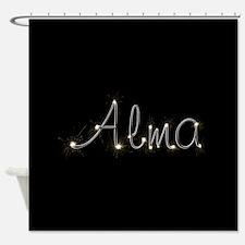 Alma Spark Shower Curtain