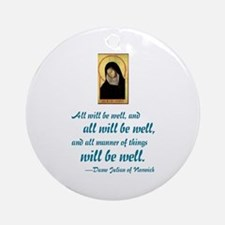 All Will Be Well Ornament (Round)