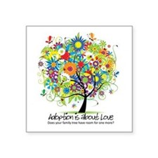 """2-FAMILY TREE ONE MORE.png Square Sticker 3"""""""