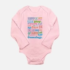 Genealogy Long Sleeve Infant Bodysuit