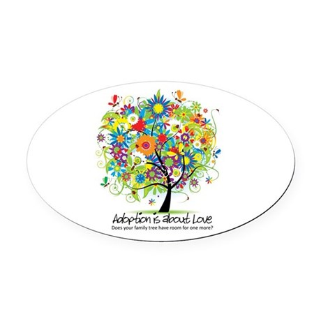 2-FAMILY TREE ONE MORE.png Oval Car Magnet