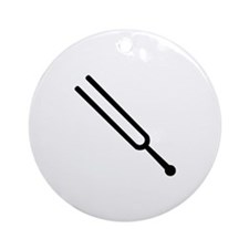 Tuning fork Ornament (Round)