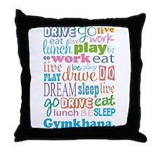Gymkhana Throw Pillow