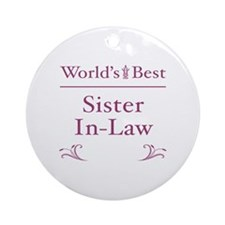 Floral Sister-In-Law Ornament (Round)