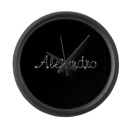 Alejandro Spark Large Wall Clock