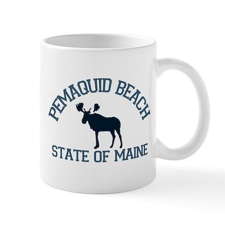 Pemaquid Beach ME - Moose Design. Mug