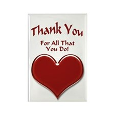 Thank You Heart Rectangle Magnet (10 pack)