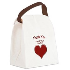 Thank You Heart Canvas Lunch Bag