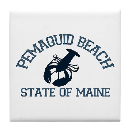 Pemaquid Beach ME - Lobster Design. Tile Coaster