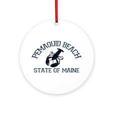 Pemaquid Beach ME - Lobster Design. Ornament (Roun