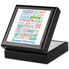 Hammer Throwing Keepsake Box