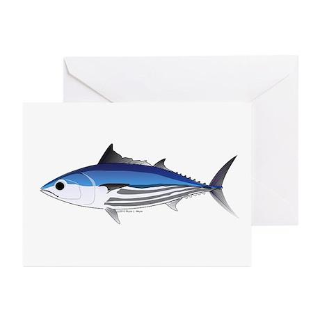 Skipjack Tuna fish Greeting Cards (Pk of 10)