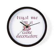 Trust Me I'm a Cake Decorator Wall Clock