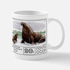 1977 Russia Walrus With Calf Postage Stamp Mug