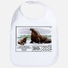 1977 Russia Walrus With Calf Postage Stamp Bib
