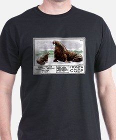 1977 Russia Walrus With Calf Postage Stamp T-Shirt