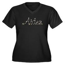 Aiden Spark Women's Plus Size V-Neck Dark T-Shirt