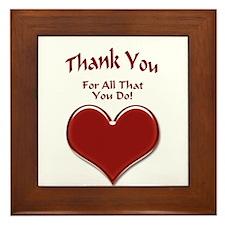 Thank You Heart Framed Tile