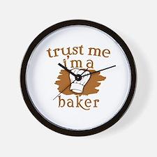 Trust Me I'm a Baker Wall Clock