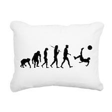 Soccer Evolution Rectangular Canvas Pillow