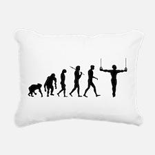 Rings Gymnast Rectangular Canvas Pillow