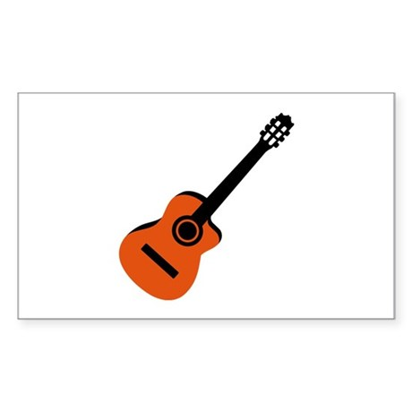 Acoustic Guitar Sticker (Rectangle)