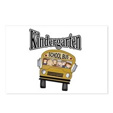 School Bus Kindergarten Postcards (Package of 8)
