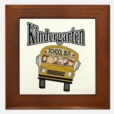 School Bus Kindergarten Framed Tile