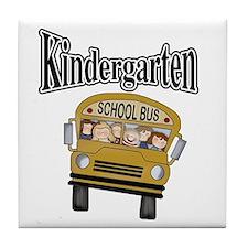 School Bus Kindergarten Tile Coaster