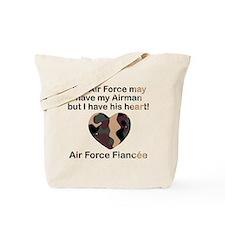 AF Fiancee I have his heart Tote Bag