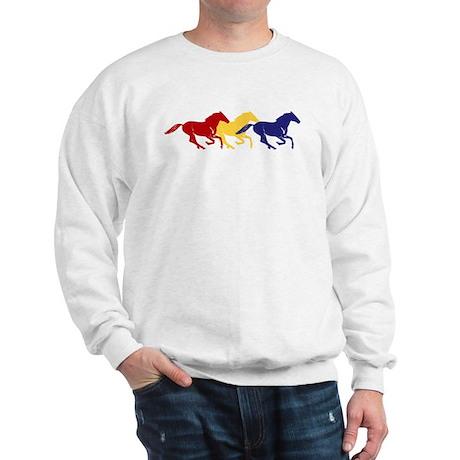 Wild Color Galloping Horses Sweatshirt
