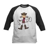 Kids texas cowgirl Baseball Jersey