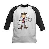 Kids texas cowgirl Baseball Jersey