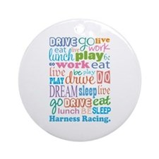 Harness Racing Ornament (Round)