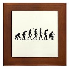 Tattoo artist evolution Framed Tile