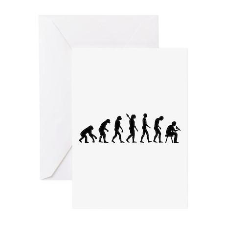 Tattoo artist evolution Greeting Cards (Pk of 10)