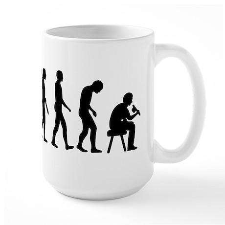 Tattoo artist evolution Large Mug