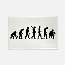 Tattoo artist evolution Rectangle Magnet